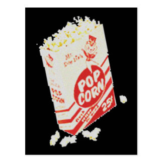 Retro Vintages Film-Theater-Popcorn Postkarte