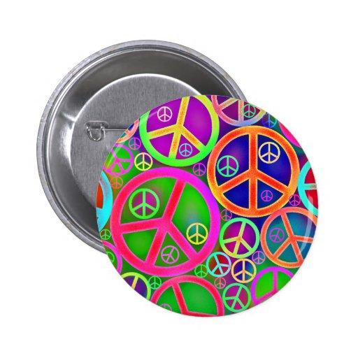 Retro Vintages Friedensherz Button