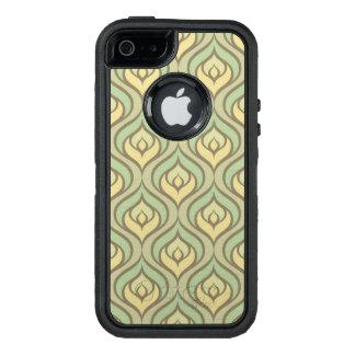 Retro Vintages grünes und gelbes Muster OtterBox iPhone 5/5s/SE Hülle