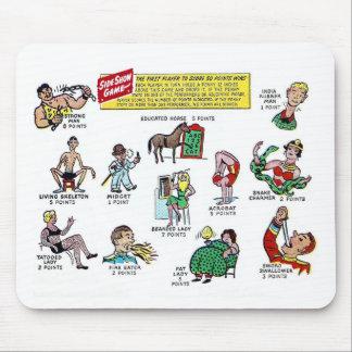 Retro Vintages Kitsch-Comic-Zirkussideshow-Spiel Mousepad