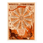 Retro Vintages Kitsch-Halloween-Rad von Vermögenn Postkarte