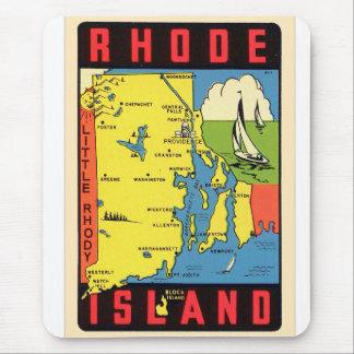 Retro Vintages Kitsch-Rhode Island Rhody Mousepad