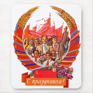 Retro Vintages Kitsch-Sowjet UDSSR-Schild Mousepad