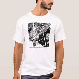 Retro Vintages Sci FI-Erdtransport-Angriff alien T-Shirt