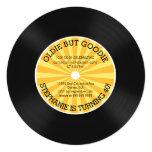 Retro Vinylaufzeichnungs-Geburtstags-Party Quadratische 13,3 Cm Einladungskarte