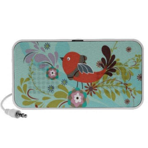 Retro Vogel-Lautsprecher