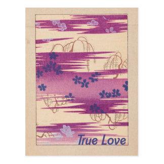 Retro wahre Liebe Postkarte