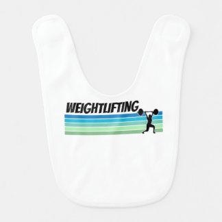 Retro Weightlifting Babylätzchen