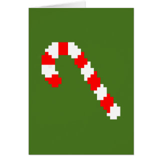 Retro Weihnachts8-bitkarte Karte
