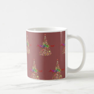 Retro Weihnachtsbaum-Kaffee-Tasse Kaffeetasse