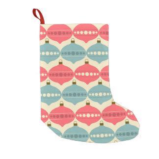 Retro Weihnachtsdekorations-Muster-Strumpf Kleiner Weihnachtsstrumpf