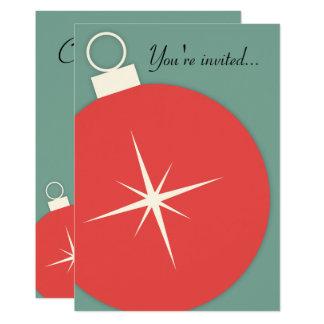 Retro WeihnachtsParty Einladung
