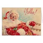 Retro Weihnachtssankt-Gruß-Karte