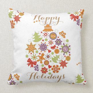 Retro Weihnachtsverzierungs-Wurfs-Kissen Kissen