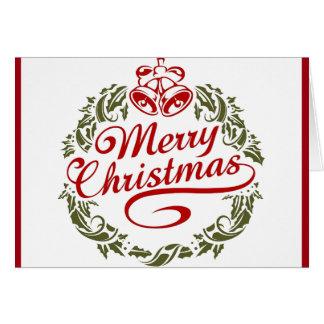 Retro Weihnachtswunsch Karte