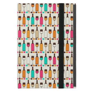 Retro Weinflaschen und -gläser iPad Mini Etui