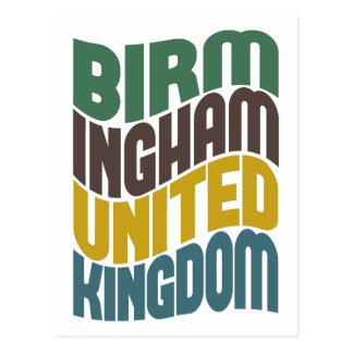 Retro Welle Birminghams Vereinigtes Königreich Postkarte