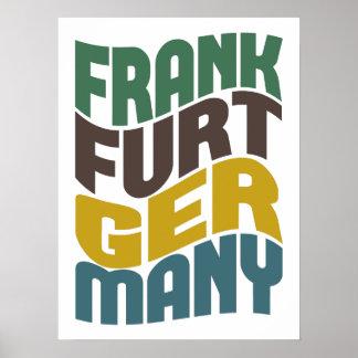 Retro Welle Frankfurts Deutschland Poster