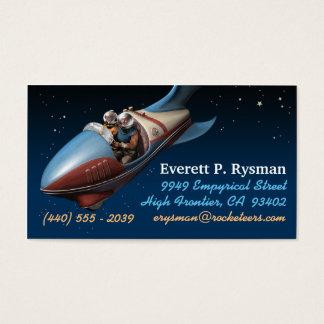 Retro Weltraumrakete-Visitenkarten Visitenkarte