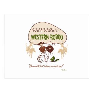 Retro 'Western Rodeo Postkarte