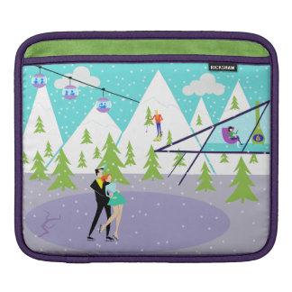 Retro Winter-Skiort iPad Hülse Sleeve Für iPads