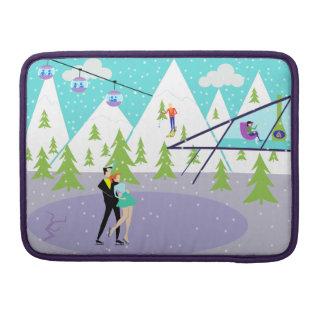 Retro Winter-Skiort-MacBook Pro-Hülse MacBook Pro Sleeve