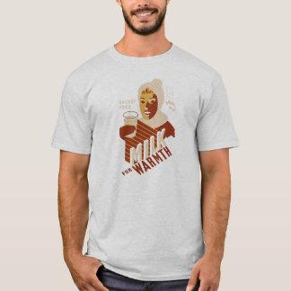 Retro WPA-Milch für Wärme-Plakat-T-Shirt T-Shirt