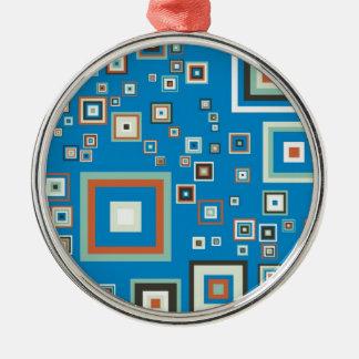 Retro Würfel Silbernes Ornament
