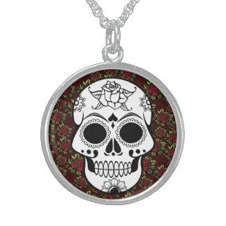 Retro Zuckerschädel rote kundengerechte Halskette