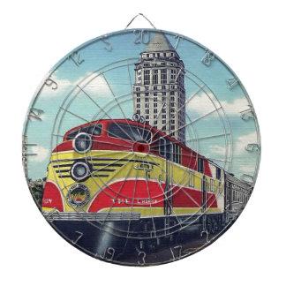 Retro Zug die Meister-Miami-Eisenbahnen Dartscheibe