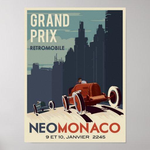 Retromobile Grandprix Posterdrucke