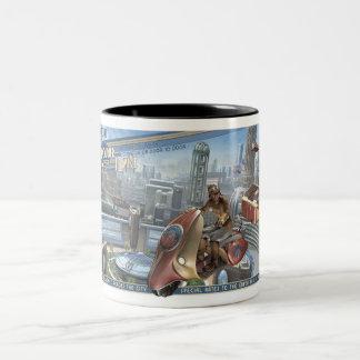 Retropolis Kurierdienst-Tasse Zweifarbige Tasse