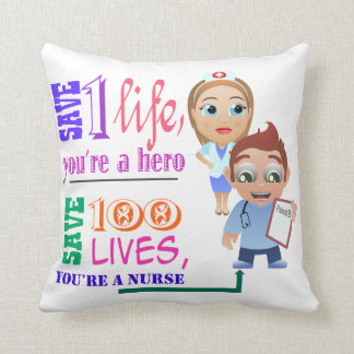 Retten Sie 100 Leben, die Sie ein Mann und eine Kissen