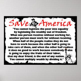 Retten Sie Amerika! Poster