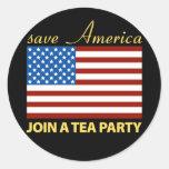 Retten Sie Amerikaner - schließen Sie sich einem T Aufkleber