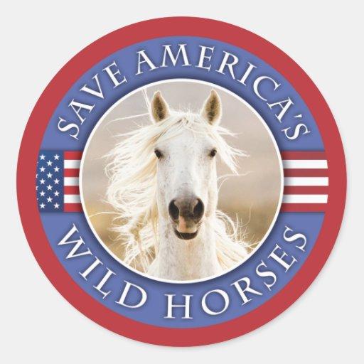 Retten Sie Amerikas wilden Pferden Aufkleber