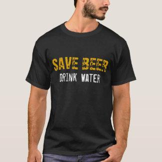 Retten Sie Bier-Getränk-Wasser T-Shirt