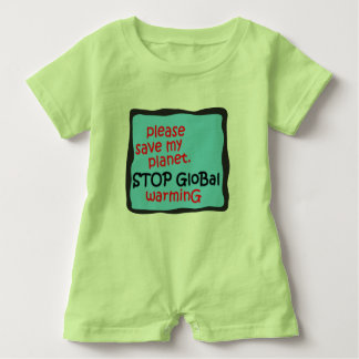 Retten Sie bitte meinen Planeten. Stoppen Sie Baby Strampler
