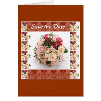 Retten Sie das Blumen Datum Karte