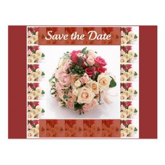 Retten Sie das Blumen Datum Postkarte
