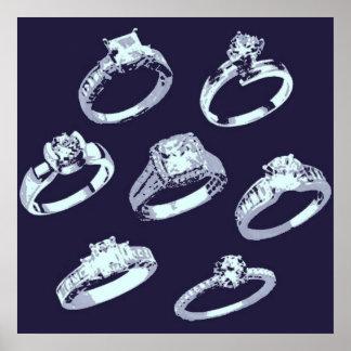 Retten Sie das Date/He setzen einen Ring auf ihn! Posterdruck