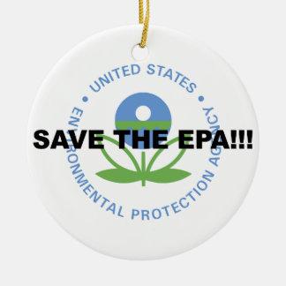 Retten Sie das EPA Keramik Ornament