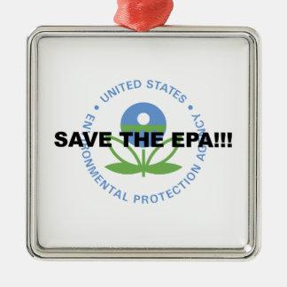 Retten Sie das EPA Silbernes Ornament