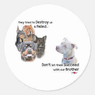 Retten Sie das Pitbull Stickers