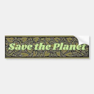 Retten Sie das Planeten-Blatt und die Rebe Autoaufkleber