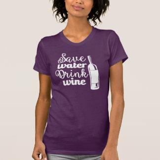 Retten Sie das Shirt der Wasser-Getränk-Wein