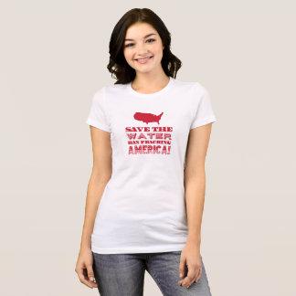 """""""Retten Sie das Wasser…"""" Rote Art T-Shirt"""