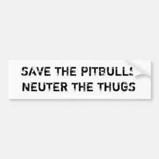 Retten Sie dem Pitbulls Neutrum den Autoaufkleber