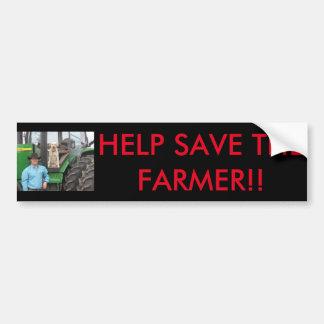 Retten Sie den Bauern Autoaufkleber