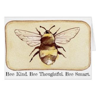 Retten Sie den Bienen Bienen-Art Karte